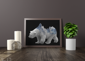 Double exposure isbjørn